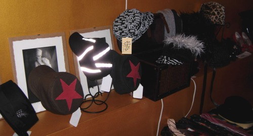 hats at the pop up shop