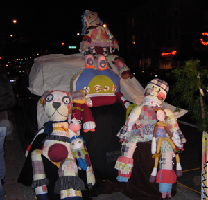 giant fabric dolls