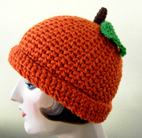 Pumpkin crochet hat $36